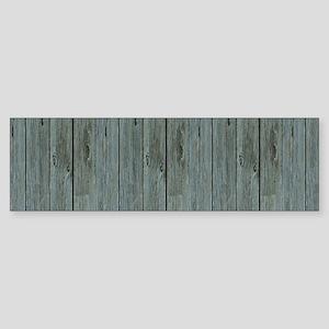 nautical teal beach drift wood Bumper Sticker