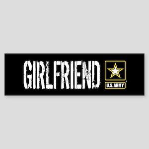 U.S. Army: Girlfriend (Black) Sticker (Bumper)