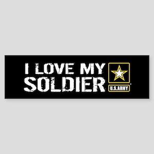 U.S. Army: I Love My Soldier (Bla Sticker (Bumper)