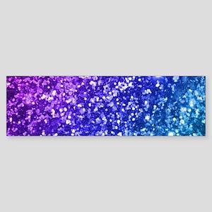 Glitter Ocean Bokeh Bumper Sticker