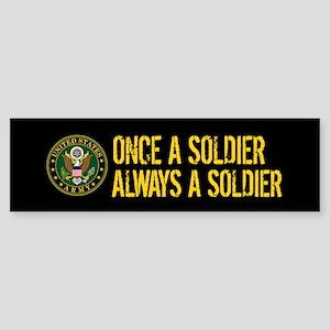 U.S. Army: Once a Soldier, Always Sticker (Bumper)