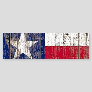 barn wood Texas Flag Bumper Sticker
