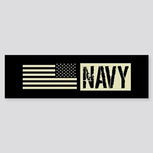 U.S. Navy: Navy (Black Flag) Sticker (Bumper)