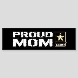 U.S. Army: Proud Mom (Black) Sticker (Bumper)