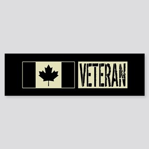 Canadian Military: Veteran (Black Sticker (Bumper)