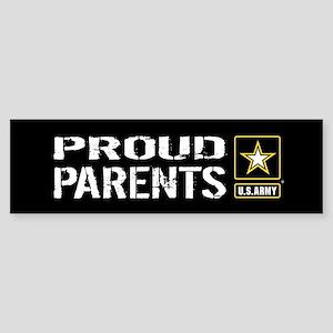 U.S. Army: Proud Parents (Black) Sticker (Bumper)