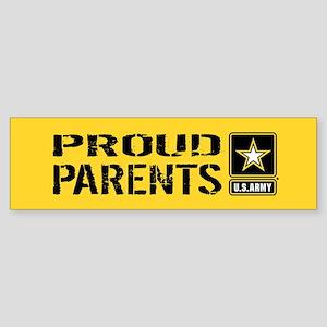 U.S. Army: Proud Parents (Gold) Sticker (Bumper)
