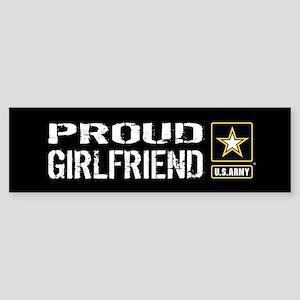 U.S. Army: Proud Girlfriend (Blac Sticker (Bumper)