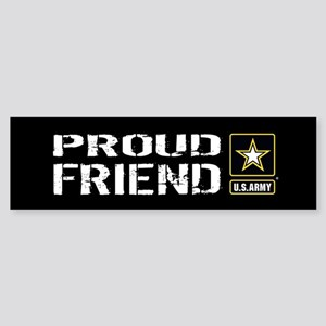 U.S. Army: Proud Friend (Black) Sticker (Bumper)