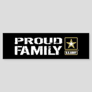 U.S. Army: Proud Family (Black) Sticker (Bumper)