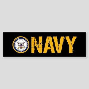 U.S. Navy: Navy (Black) Sticker (Bumper)