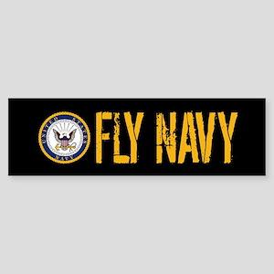 U.S. Navy: Fly Navy (Black) Sticker (Bumper)