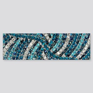 bohemian crystal teal turquoise Bumper Sticker