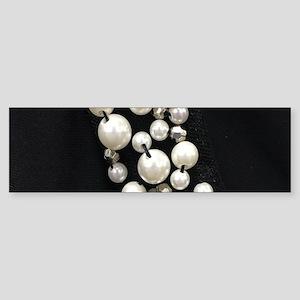 black and white pearl Bumper Sticker