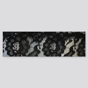 great gatsby black lace Bumper Sticker