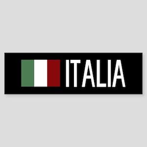 Italy: Italia & Italian Flag Sticker (Bumper)