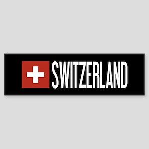 Switzerland: Swiss Flag & Switzer Sticker (Bumper)