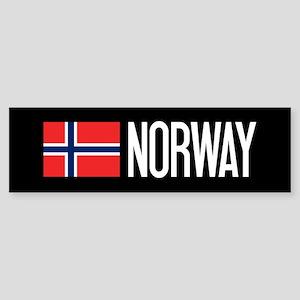 Norway: Norwegian Flag & Norway Sticker (Bumper)