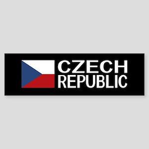 Czech Republic: Czech Flag & Czec Sticker (Bumper)