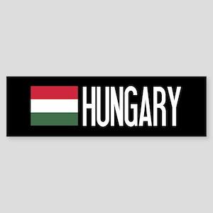Hungary: Hungarian Flag & Hungary Sticker (Bumper)