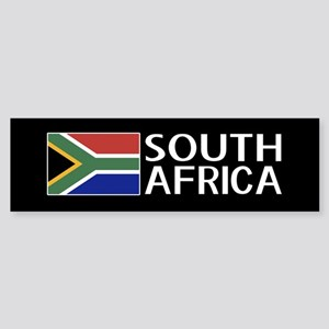 South Africa: South African Flag Sticker (Bumper)