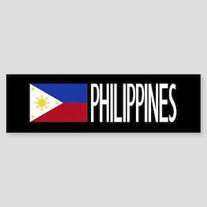 Philippines: Filipino Flag & Phil Sticker (Bumper)