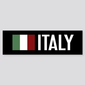 Italy: Italian Flag & Italy Sticker (Bumper)