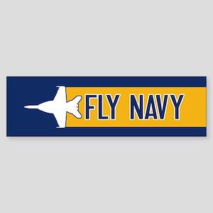 U.S. Navy: Fly Navy (F-18) Sticker (Bumper)