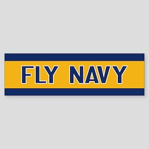 U.S. Navy: Fly Navy (Blue & Gold) Sticker (Bumper)