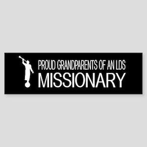 LDS: Proud Missionary Grandparent Sticker (Bumper)