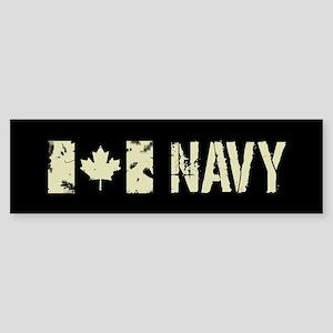 Canadian Flag: Navy Sticker (Bumper)