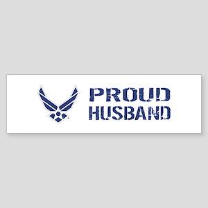 USAF: Proud Husband Sticker (Bumper)