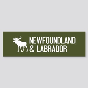 Newfoundland and Labrador Moose Sticker (Bumper)