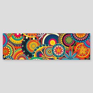 Funky Retro Pattern Bumper Sticker