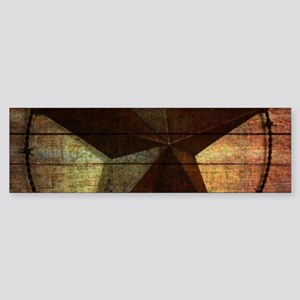 barn wood texas star Bumper Sticker