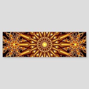 Honey Star Mandala Bumper Sticker