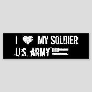 U.S. Army: I Love My Soldier Sticker (Bumper)