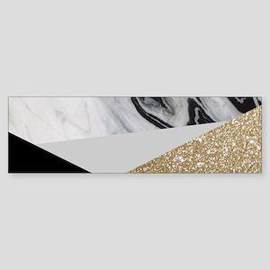 contemporary gold glitter marble Bumper Sticker