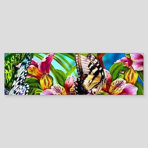 Beautiful Butterflies And Flowers Bumper Sticker