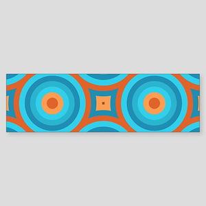 Orange and Blue Mid Century Modern Bumper Sticker