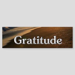 Gratitude Sunset Beach Bumper Sticker