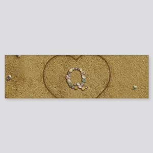 Q Beach Love Sticker (Bumper)