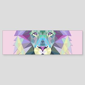Triangle Colorful Lion Head Bumper Sticker