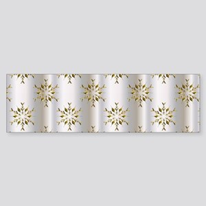 Gold Christmas Stars on Silver Bumper Sticker
