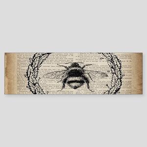 vintage french bee Bumper Sticker