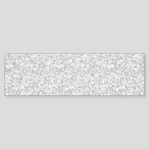 Silver Gray Glitter Sparkles Bumper Sticker