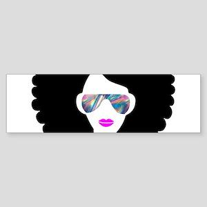 hologram afro girl Bumper Sticker