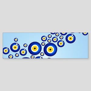 Evil eye protection pattern design Bumper Sticker