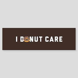 I Donut Care Emoji Sticker (Bumper)