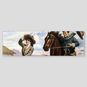 Wild West American Cowboys Bumper Sticker